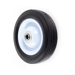 "50 lbs. Load Rating. 1-3/4"" Hub Length. 1/2"" Ball Bearing. Centered Hub. Ribbed Tread."