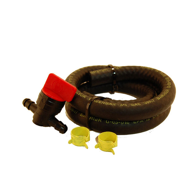 """Fits Most Tractors with 1/4"""" I.D. Fuel Line. Includes Fuel Line, Clamps and Shut Off Valve."""