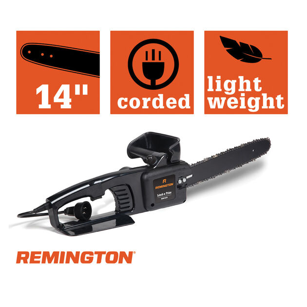 "Remington RM1425 14"" Limb N Trim® Electric Chainsaw"
