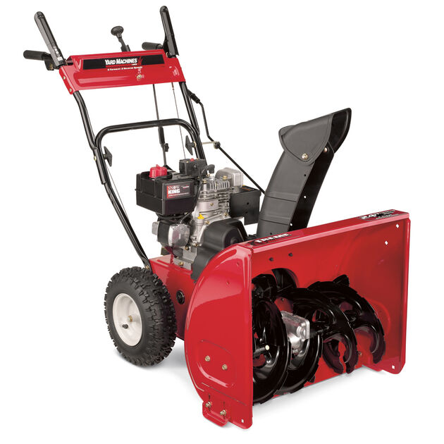 yard machines 24 u0026quot  two stage snow thrower 31as6bee700