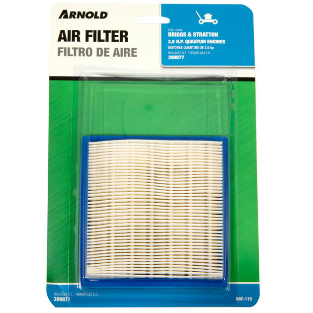 Replacement Air Filter - Briggs and Stratton 399877