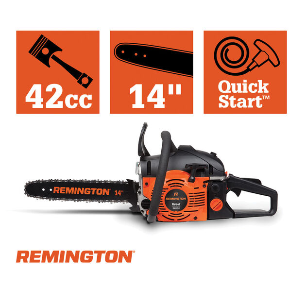 "Remington RM4214 14"" Rebel Gas Chainsaw"