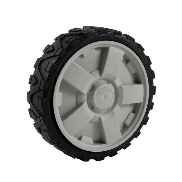 Wheel Assembly w/ Hubcap, 8 x 2 - Gray